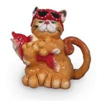 Cat Catching Fish Teapot