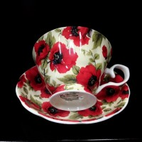 Heritage Red Poppy Cup & Saucer