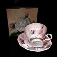 Heritage Antique Rose Cup & Saucer Set