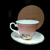 Happy Hour Elephant Cup & Saucer