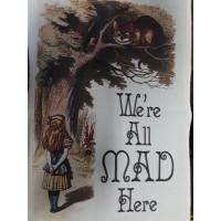 Alice in Wonderland Tea Towel-All Mad