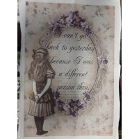 I Can't Go Back To Yesterday tea towel