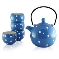 Polka Dots Blue Tea Set