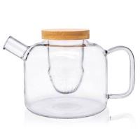 Glass Tea Pot With Bamboo Lid
