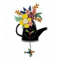 Blossom Clock ( Black )