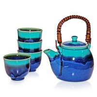 Rischi Turquoise Tea Set