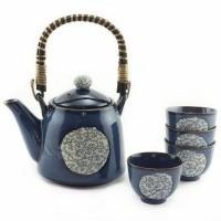 Edo Blue Clouds Tea Set