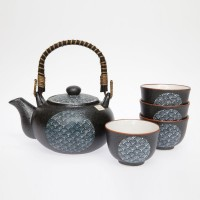 Blue Wave Tea Set