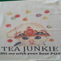 Tea Junkie - Tea Towel