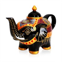 Tempo Elephant Black & Gold Teapot 800ml