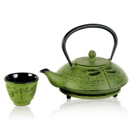 Dragonfly Green - Tea Pot