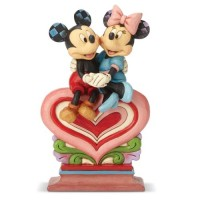 Mickey & Minnie Sitting On a Heart Figurine