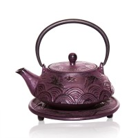 Flying Crane cast iron tea pot