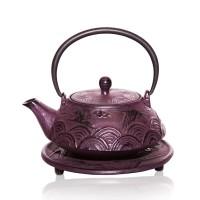 Flying Crane cast iron tea pot