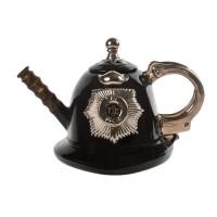 Police Helmet Tea Pot