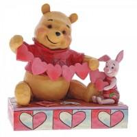 Pooh & Piglet Valentines Figurine