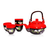 Garden Red Tea Set