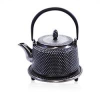 Silver Iron Teapot
