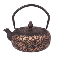 Teaology Cast Iron Hearts Black & Bronze Teapot
