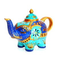 Tempo Elephant Blue Teapot 800ml