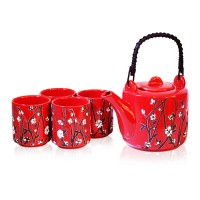 Ume Red Tea Set