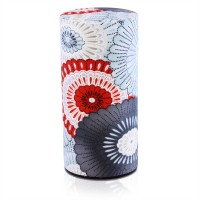 Haru Japanese Orimono Canister (Red/Grey)