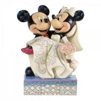 Mickey & Minnie Congratulations Figurine