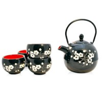 White Flowers - Tea Set
